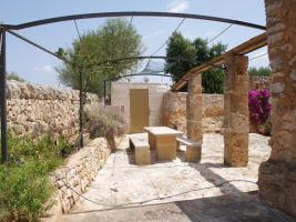 Foto 3 Langzeitmiete Mallorca: Romantische 285 qm Naturstein Pool Finca mit Apartment nahe Santanyi