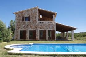 Langzeitvermietung Mallorca: Bezaubernde große Naturstein Pool Finca mit Heizung nahe Porreres / Inselmitte