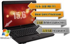 Laptop Vertrag: TOP Bundle Vertrag Laptop Notebook HP 615, Dual-Core, 2 GB Ram, 320 GB HDD, 15,6'' TFT etc.