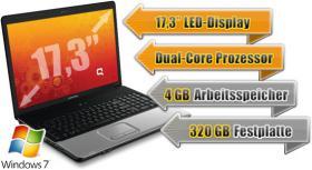 Laptop mit Vertrag - Notebook 17,3'' HP Compaq mit Vertrag ab NUR 0, - Euro: Intel Dual-Core, 4 GB Ram, 320 GB HDD etc.