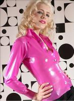 Latexbluse Pink (Neu)