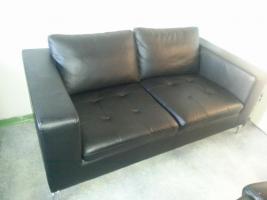 Leder 2 Sitzer Couch