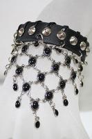 Leder-Armband schwarz