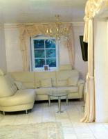 Foto 2 Leder Couch Garnitur mit Ottomane