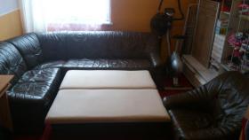 Foto 4 Leder Couch Sedda + Sofa
