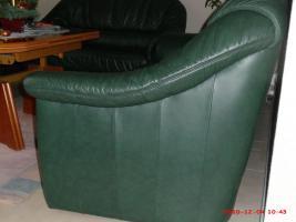 Foto 4 Leder-Couchgarnitur