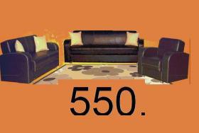 Foto 6 Leder Couchgarnitur 3+2+1 nur 550, -