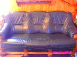 Leder Ganitur 3er 2er und 1 Sessel