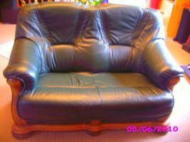 Foto 2 Leder Ganitur 3er 2er und 1 Sessel
