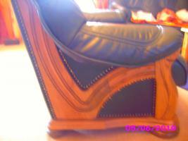 Foto 3 Leder Ganitur 3er 2er und 1 Sessel