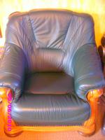 Foto 4 Leder Ganitur 3er 2er und 1 Sessel