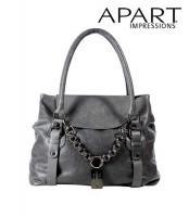 Leder-Handtasche Grau von APART