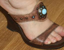Leder Schuhe High Heels