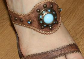 Foto 2 Leder Schuhe High Heels