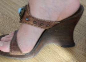 Foto 3 Leder Schuhe High Heels