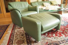 Leder-Sitzkombination
