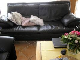 Leder Sofa Garnitur