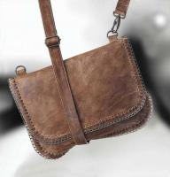 Leder-Tasche braun von URBAN VINTAGE - Neu & OVP