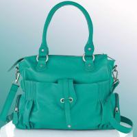 Leder-Tasche smaragd von EMMA & JADE - OVP - NEU