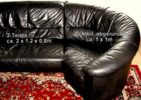 Foto 4 LederCouch + LederSessel + Couchtisch