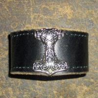 Lederarmband Thors Hammer S