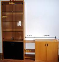 Foto 2 Ledercouch 3er,2er und Sessel (Leder) =3Teile & Wohnzimmerschrank
