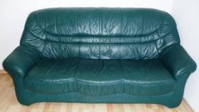 Foto 4 Ledercouch 3er,2er und Sessel (Leder) =3Teile & Wohnzimmerschrank