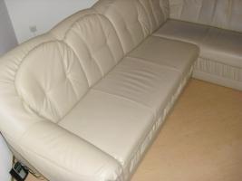 Foto 2 Ledercouch mit Bettfunktion, guter Zustand
