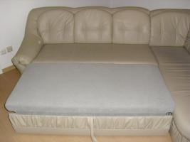 Foto 4 Ledercouch mit Bettfunktion, guter Zustand