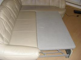 Foto 5 Ledercouch mit Bettfunktion, guter Zustand