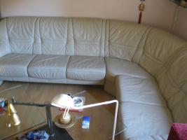 Foto 3 Ledercouch in beige [Lounge] - neuwertig