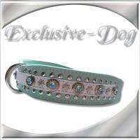 Lederhalsband Lederhalsbänder French Bulldog Hundehalsband Nieten Strass