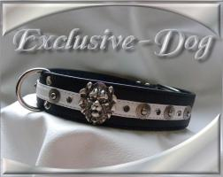 Foto 2 Lederhalsband Nieten Löwenkopf Dobermann Halsband Hundehalsbänder