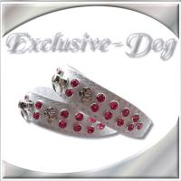 Lederhalsband Strasshalsband XS Toy Pudel Halsband Chihuahua Prager Rattler''EXCLUSIVE-DOG''