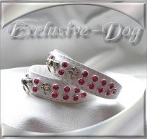 Foto 2 Lederhalsband Strasshalsband XS Toy Pudel Halsband Chihuahua Prager Rattler''EXCLUSIVE-DOG''