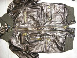 Foto 3 Lederjacke von PELLEPELLE, NEU, bronze, gr.L