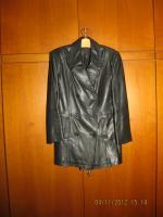 Lederjacke zweireihig schwarz