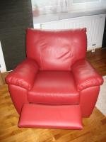 Foto 2 Ledersessel ''VRETA'' mit Dreh-, Schaukel- und Ruhefunktion (IKEA)