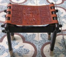 Lederstuhl Stuhl Mahagoni