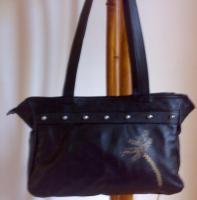 Ledertasche, Damenhandtasche, Schultertasche aus echtem Leder, Unikat
