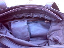 Foto 3 Ledertasche, Damenhandtasche, Schultertasche aus echtem Leder, Unikat