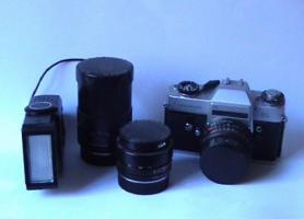 Leicaflex SL mit 3 Objektiven