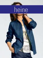Leinen-Bluse blau - heine - Gr��e 34 - Neu & OVP