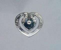 Lesezeichen Herz 4,5x4,5 Sterling / Echtsilber 925
