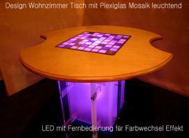 leuchtendes plexiglas mosaik in m bel interieur design in k ln holz rechteckig massiv. Black Bedroom Furniture Sets. Home Design Ideas