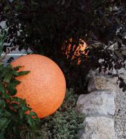 Garten-Leuchtkugel Terracotta