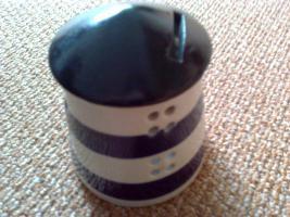 Leuchtturm als Sparbüchse, Keramik  4er Set