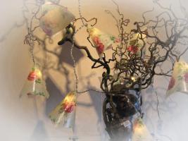Lichterkette mit Rosen Geschenkidee