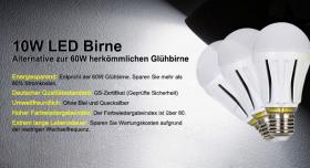 Lighting EVER 10W LED Birne (Alternative zur 60W herkömmlichen Glühbirne)