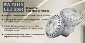 Lighting EVER 5W GU10 LED Strahler (Alternative zur 50W Halogenlampe)